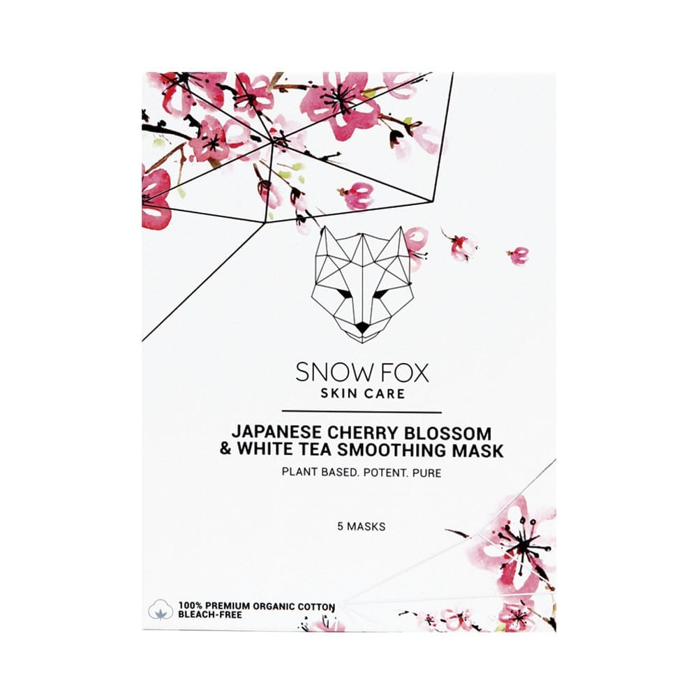 SNOW FOX Japanese Cherry Blossom & White Tea Smoothing Mask