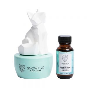 SNOW FOX Ceramic Scent Diffuser with Essential Oil